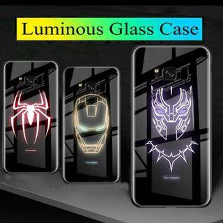 Marvel luminous glass phone case