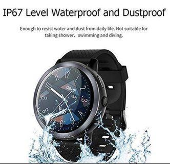 LEMFO LEM8 Smart Watch, Android 7.1.1 4G LTE, 2 MP Camera of Watch Phone, MT6739,2GB + 16GB, 580Mah Battery Bluetooth/GPS/Heart Rate Monitor for Man Woman Black