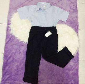 Basic Pants Black / Celana Bahan Hitam