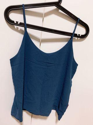 Blue Spaghetti Strapped Top