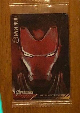 收 (徵) - Mavel Avengers 餅卡紅色 Ironman No. 14 咭