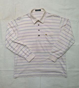 Polo Shirt Stripe Golden Bear