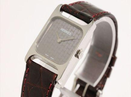 100%real HERMES antique watch working well