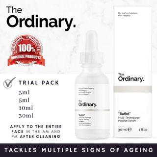 "The Ordinary ""Buffet"" wrinkles anti aging sign"
