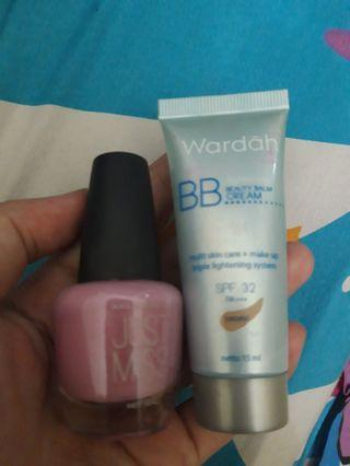 Wardah BB cream shade natural dan kutek
