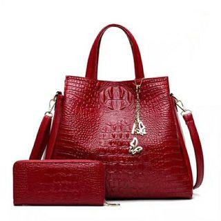 Women's Bag Red Color (Free Wallet)