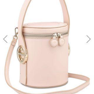 Jessica Jung Poppy Bucket Bag in Nude