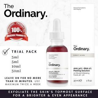 The Ordinary AHA 30% + BHA 2% Peeling Solution  Mask hyperpigmentation uneven skintone