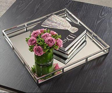 Chrome mirror tray