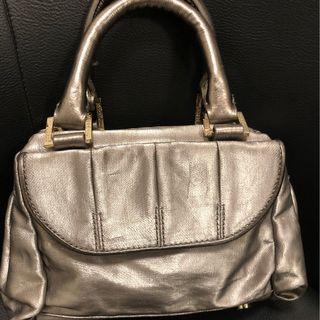 Metallic Silver Small Bag