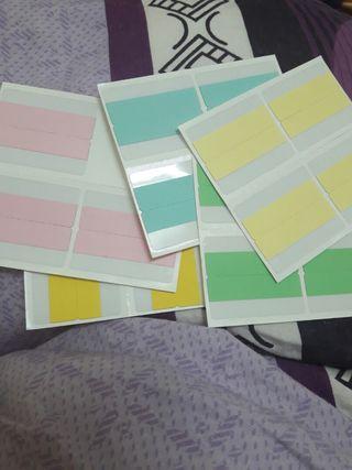 彩色索引片 標籤貼紙19入