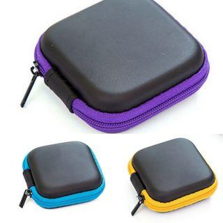 Earpiece Square Zip Pouch For Travel