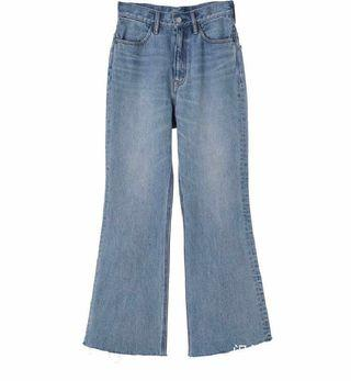 日牌 淺藍 高腰牛仔褲24腰