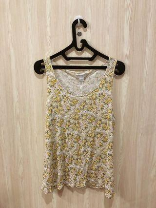 Cotton on flower top