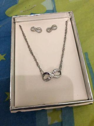 Lovisa Crystal Infinity Necklace And Earring Set