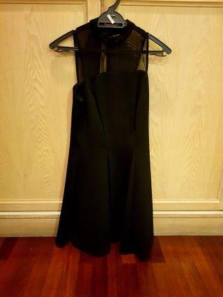 River Island Black A Line Dress - Size 10