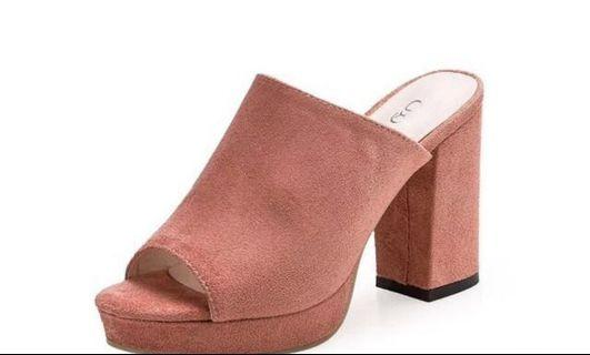 (INC POS) NEW DUSTY PINK HEELS