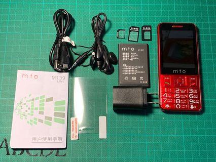 mto m139 2.8寸觸控螢幕 無相機 直立式智慧手機 支援wifi Line FaceBook 藍芽 3G/4G