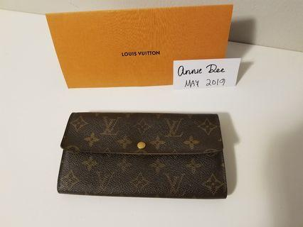 Authentic Louis Vuitton Sarah Wallet in Monogram