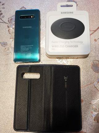 S10+plus綠色8g/128g質感漂亮機況無傷單手機一隻附全新皮套!s8, s9, note8, note9, s10e, s10可貼換