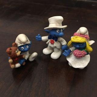 Vintage Schleich Smurf figurines
