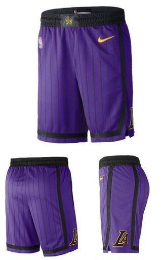 波褲 LA Lakers Nike City Edition Swingman Performance Shorts Purple Kobe Bryant leborn james
