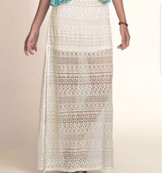 Lace MAXI Skirt W/Slit