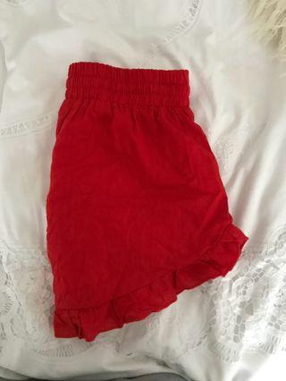 RED GLASSON SHORTS