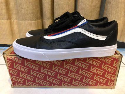 VANS ORIGINAL old skool zip, LEATHER black.