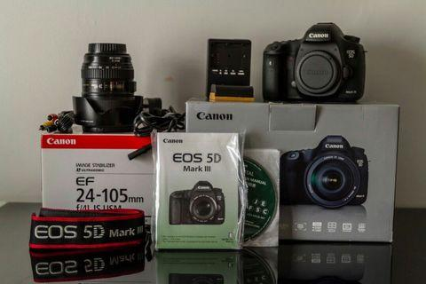 Few month used Canon eos 5D Mark III with 25-105mm lens
