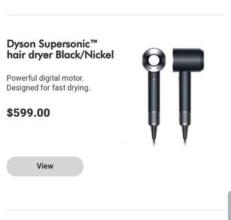 Dyson Supersonic Hairdryer (New)