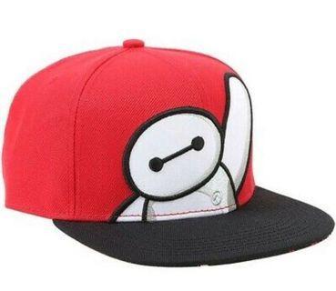 Disney Baymax Big Hero 6 Red Adult Size Snapback Hat