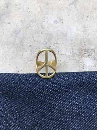 Peace coin ring ☮️