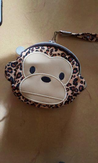 豹紋猴子雙層萬用小包