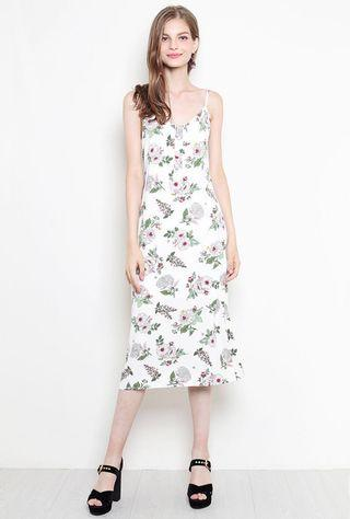 SSD Alayna Maxi Dress (White Floral)