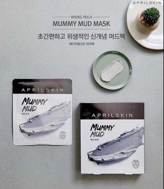 🇰🇷🇰🇷韓國APRIL SKIN 皇牌👑👑 🔥MUMMY MUD MASK木乃伊火山泥面膜