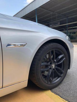 """Selling used 18"""" inch BMW rims with tyre set"""