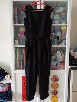 日本黑色無袖Jumpsuit