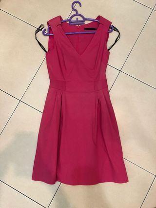 Karen Milen Hot Pink Dress