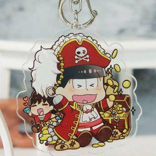 Osomatsu-san Double-sided Acrylic Keychains [Pirates]