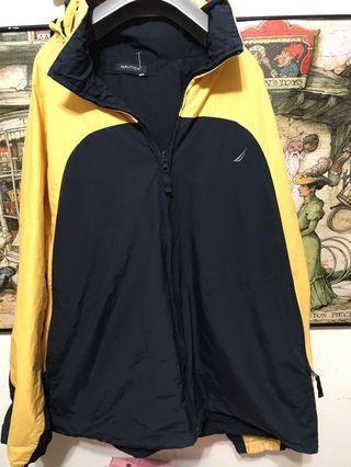 Nautica 双面穿防潑水風衣(有帽可以收在領圍),XXL,肩連袖83、長67、胸70公分(換季特價)