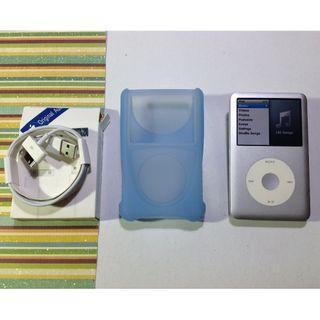 ipod classic 160gb silver blue cover