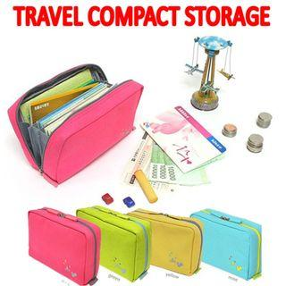 Model: TST020 Travel Compact Cosmetic Coins Passport Storage Bag