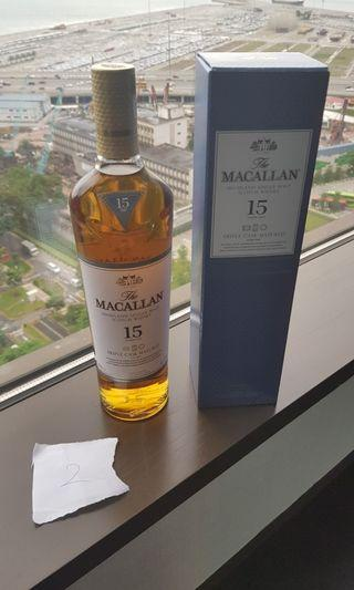 (2) Macallan 15 Years old