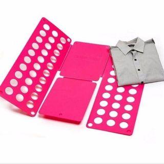 (Pink) Clothes T Shirt Top Folder Magic Folding Board Flip Fold Organiser
