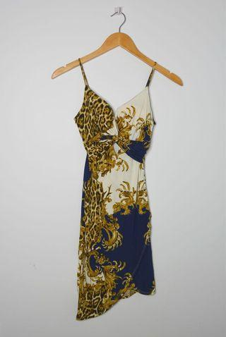 M Boutique Front Twist Cheetah Bodycon Dress