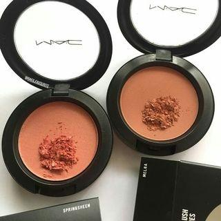 [ TRIAL MAKEUP ] AUTHENTIC MAC Cosmetic Blush in Springsheen & Melba 5g