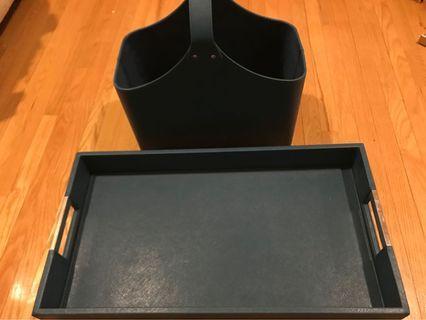 Magazine bin and tray
