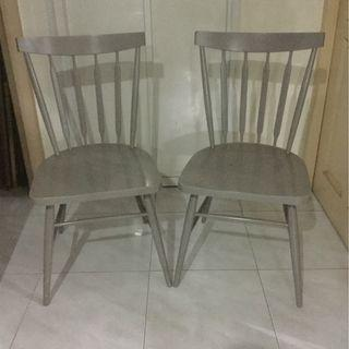 2 traditional solid wood chairs