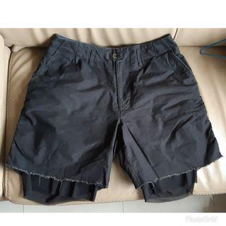 genuine made in Japan KOLOR mesh trim shorts